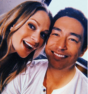 Daniel Henney clicking selfie with his co-star
