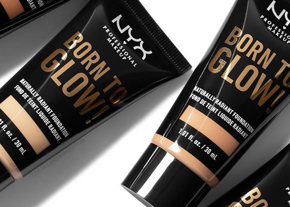 NYX Born To Glow Naturally Radiant Foundation Review Photos