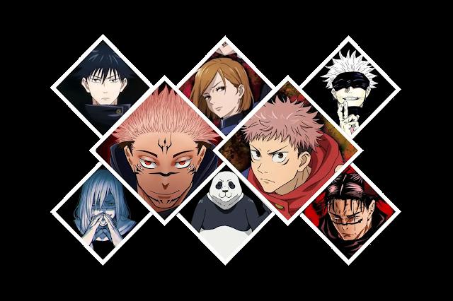 شخصيات انمي Jujutsu Kaisen مع الصور