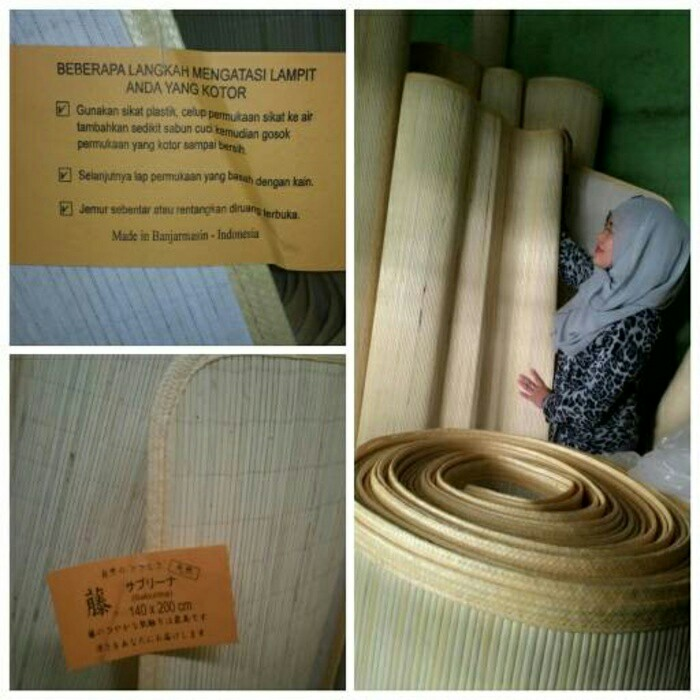Harga Tikar Lampit Rotan Kalimantan Ukuran 140 X 200 cm