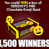 Hershey's Chocolate Emoji Bar Giveaway - 4,500 Winners Each Win a Full Box of 36 Chocolate Bars! Daily Entry, Ends 8/31/19