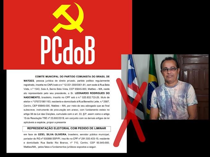 PCdoB Matões entra com representação eleitoral contra Ex Secretário Oziel Silva na propagação de Pesquisa Fraudulenta.