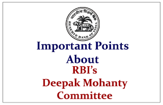 Important Points to know about Deepak Mohanty Committee on financial inclusion
