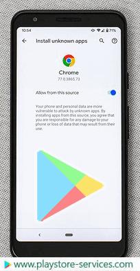 تثبيت متجر Google Play بهاتفك الذكي من متصفخ جوجل كروم