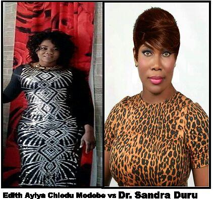 Dr. Sandra Duru and Mrs. Edith Ayiya Chiedu Modebe