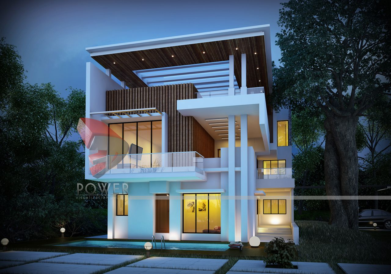 Ultra modern home designs home designs 3d exterior home design night view - Home design architects ideas ...
