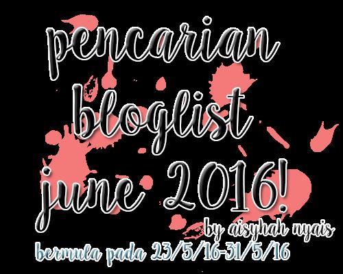 Pencarian Bloglist June 2016