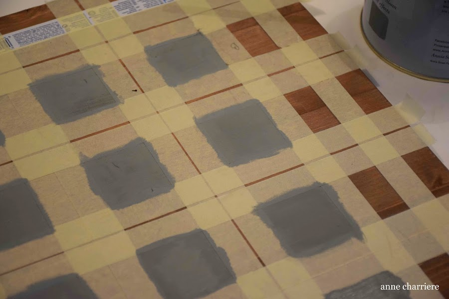 www.annecharriere.com, ideas tablero, ajedrez, pintura, DIY,