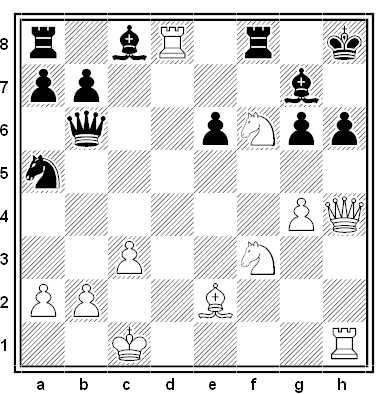 Posición de la partida de ajedrez Leonid Stein - Vladimir Mikhailovich Liberzon (Ereván, 1965)