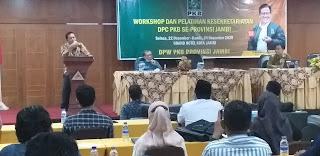 Ketua DPW PKB Provinsi Jambi Secara Resmi Membuka Workshop Dan Pelatihan Kesekretariatan DPC PKB Se-Provinsi Jambi.