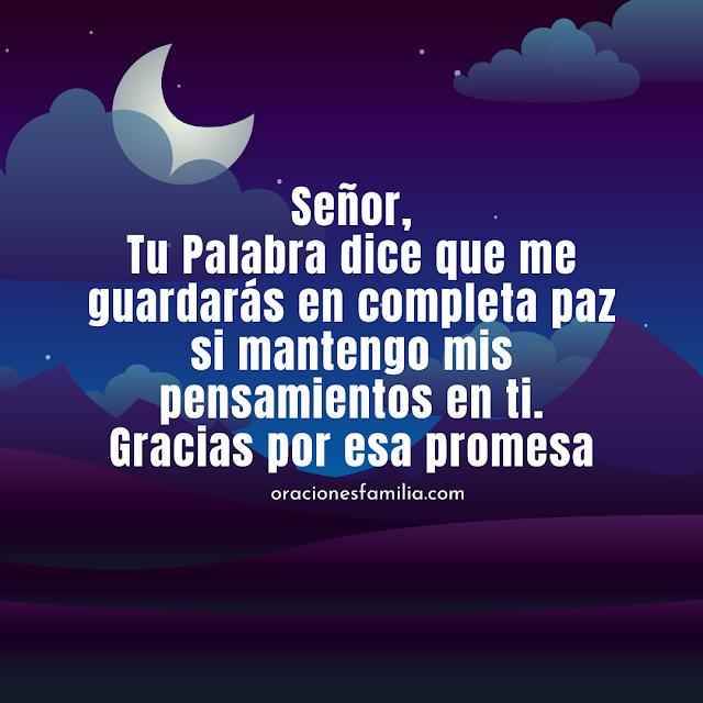 oracion de paz para dormir tranquilo en la noche