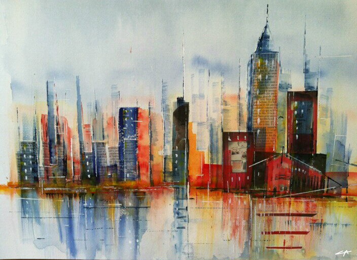 New-York, Aquarelle