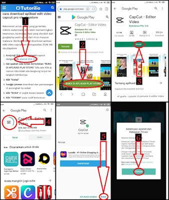 cara download aplikasi resmi edit video capcut pro via playstore