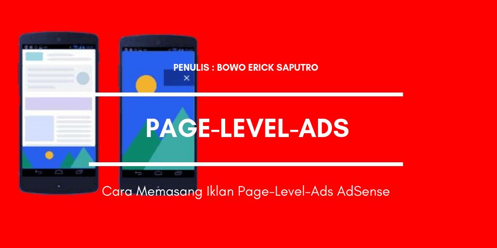 Cara Memasang Iklan Page-Level-Ads Adsense