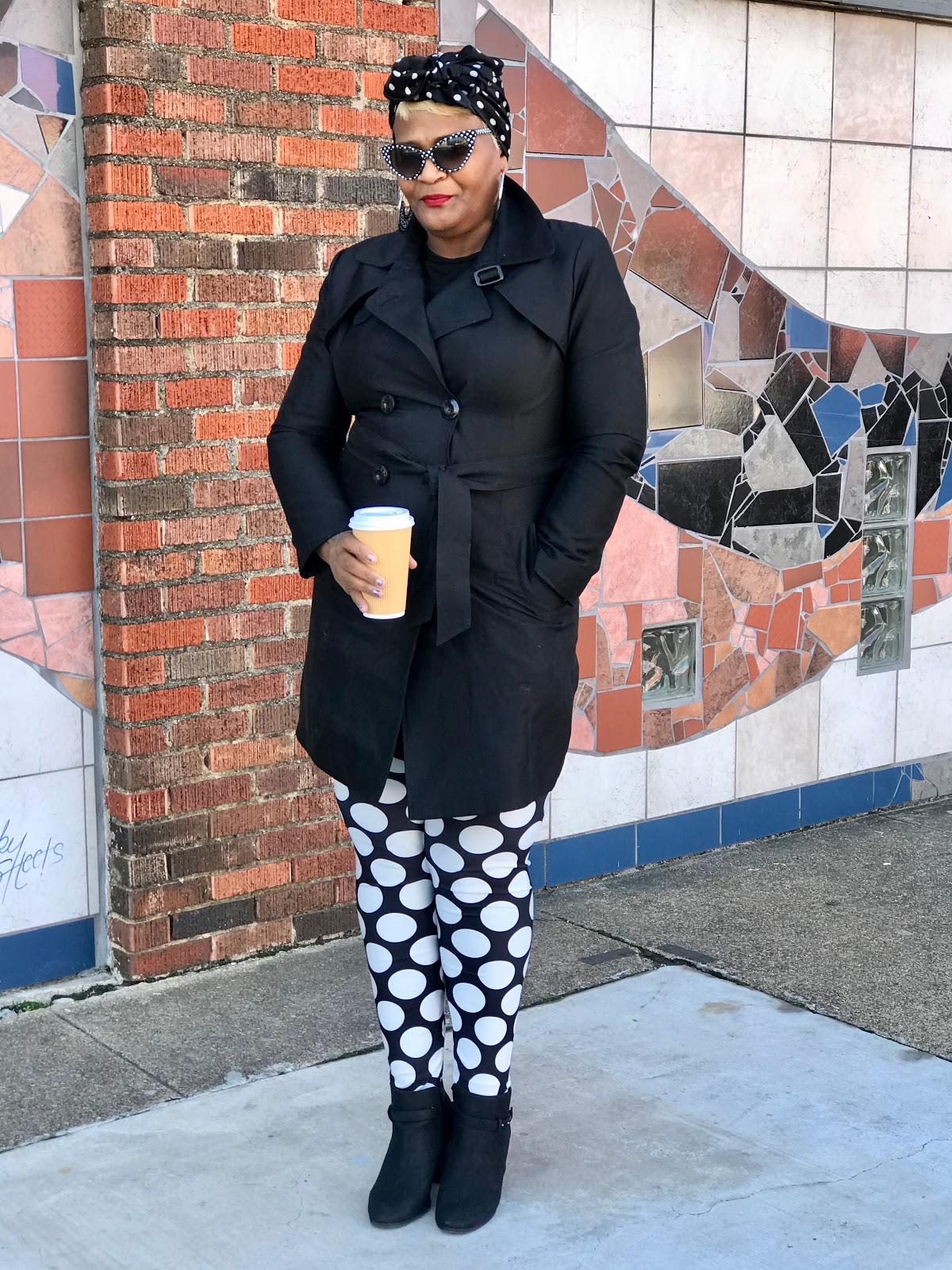 Tangie Bell is sharing the outfit deets to her polka dot style