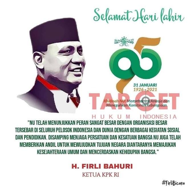 Ketua KPK H. Firli Bahuri : Sumbangsih NU Bagi Pemberantasan Korupsi di Indonesia