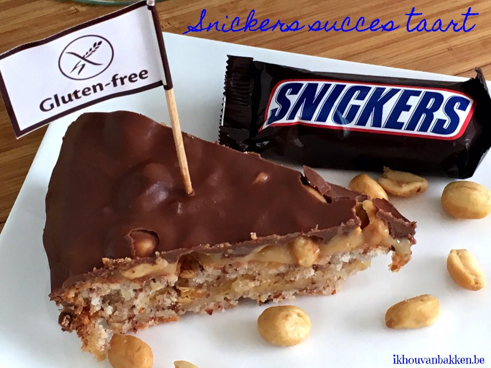 snickers taart Ik hou van bakken: Snickers succes taart (glutenvrij) snickers taart