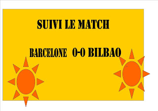 Suivi le match en direct Barcelone -0-0 bilbao  19h45