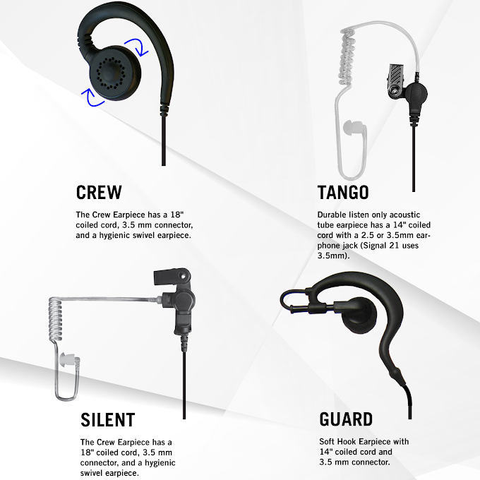 Listen Only Earpieces for Speaker Microphones and Headsets