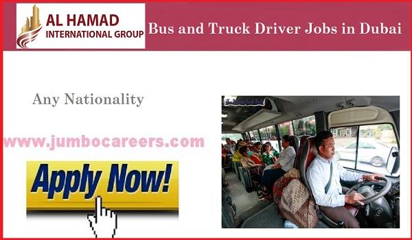 Dubai driver jobs for Indians, Available jobs in Dubai,