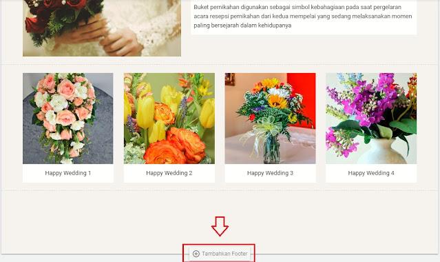Menambah Footer Halaman Google Sites