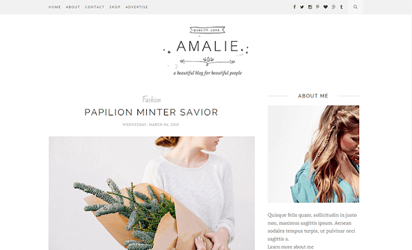 Amalie Minimal Blogger Template