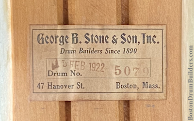 Stone & Son Drum Label, 1922 to early 1930s