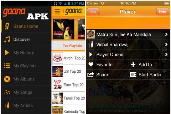 Gaana APK Download for Android ( Bollywood & Hindi Songs