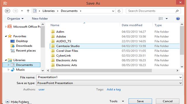 Cara Menyimpan File di Power Point