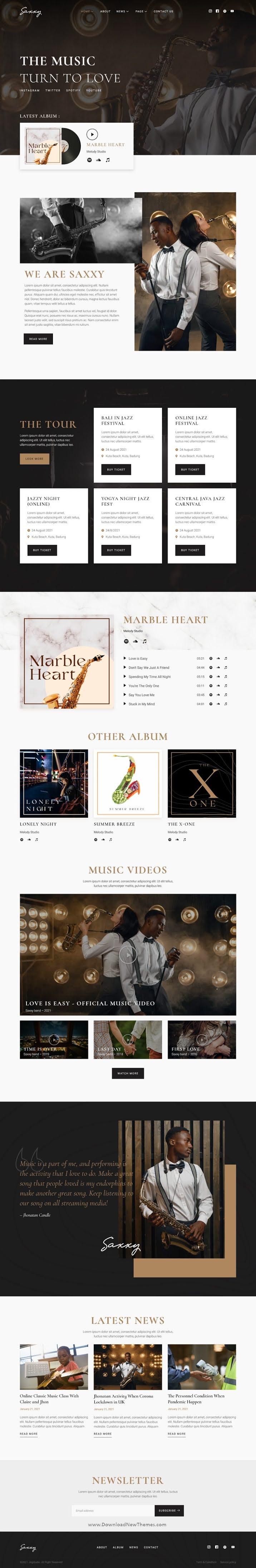 Music Band & Musician Elementor Template Kit