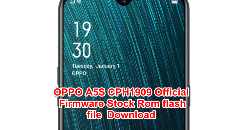 OPPO A5S CPH1909 Official Firmware Stock Rom flash file