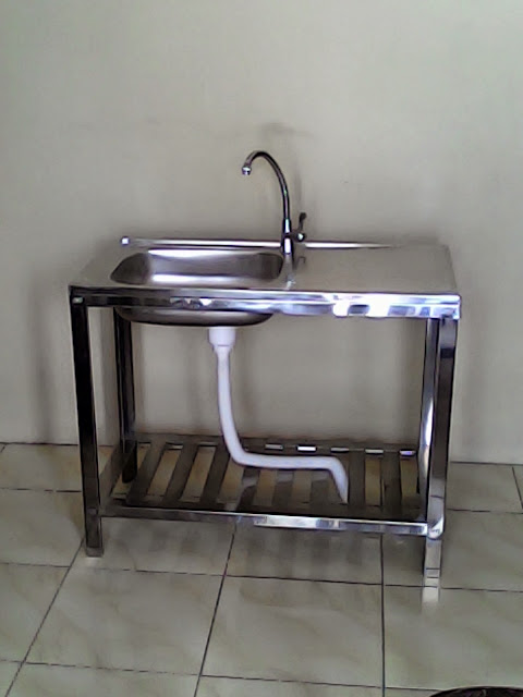 Bak cuci stainless murah ms 36 18 kakiset kran kitchen for Harga kitchen set stainless steel