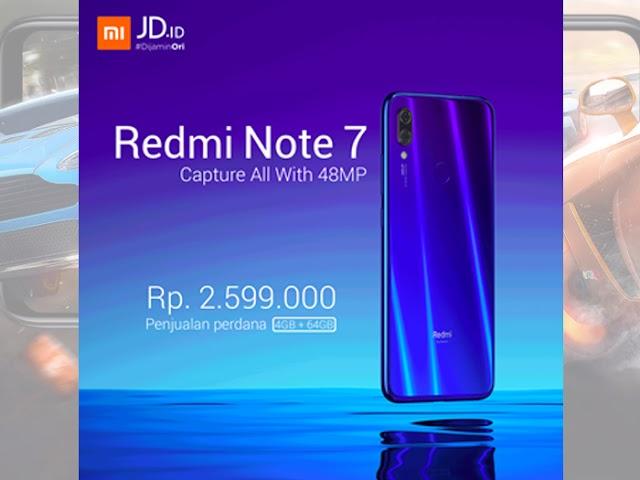 Inilah Spesifikasi dan Harga Redmi Note 7, Layar Besar dan Baterai Tangguh