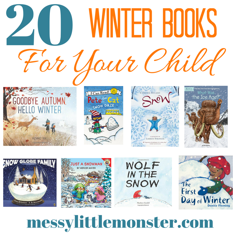 Winter books for kids. 20 snow, ice, snowflakes and snowmen inspired stories for young children. Great for toddlers and preschooler seasonal projects.