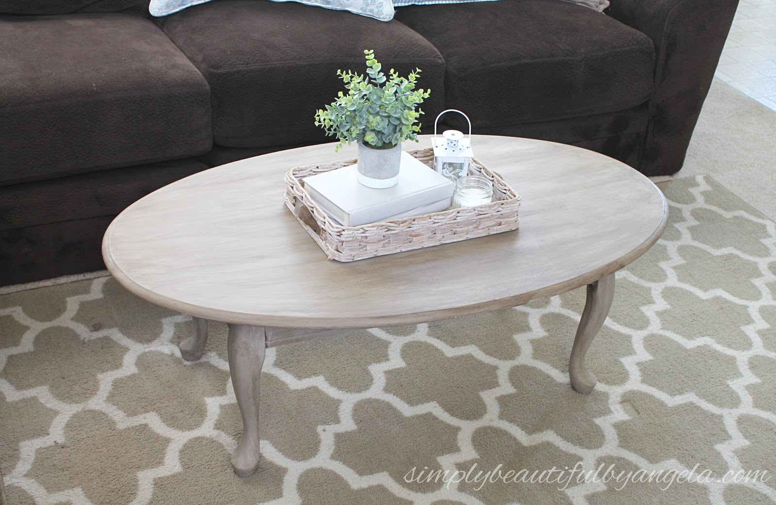 Simply Beautiful By Angela Coffee Table Gets A Faux Wood Makeover For Cheap