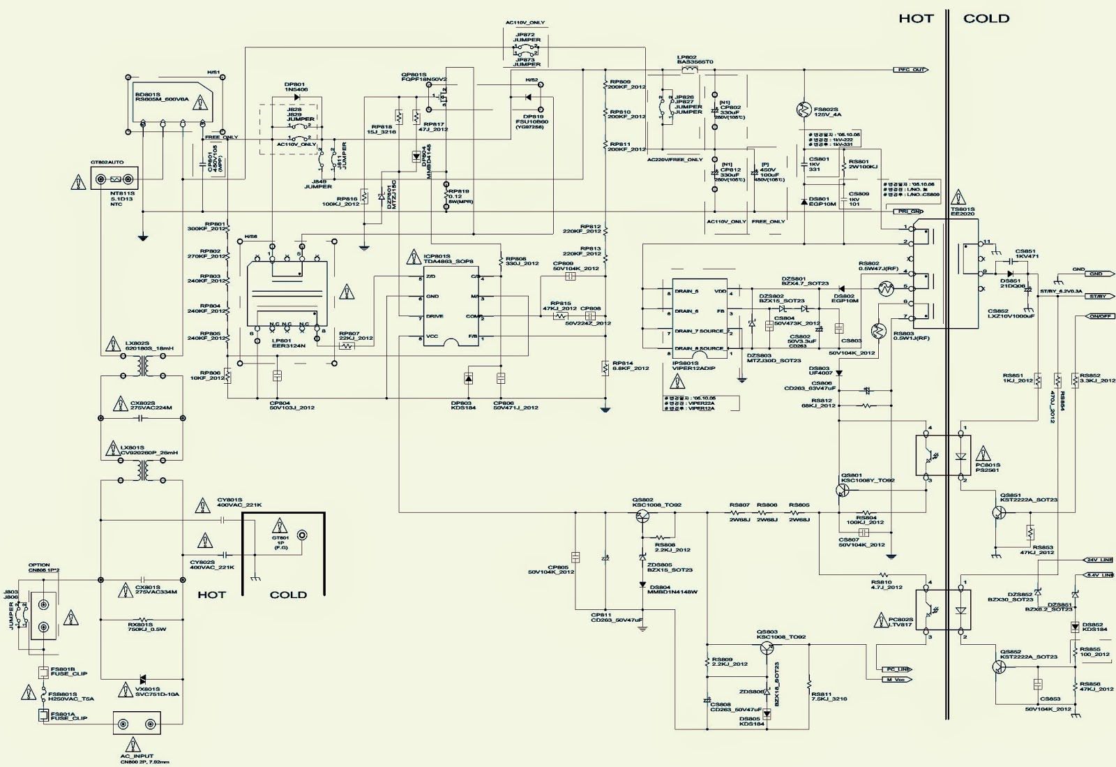 samsung schematic diagrams lcd tv smps - samsung bn96-0b - schematic (circuit diagram ...