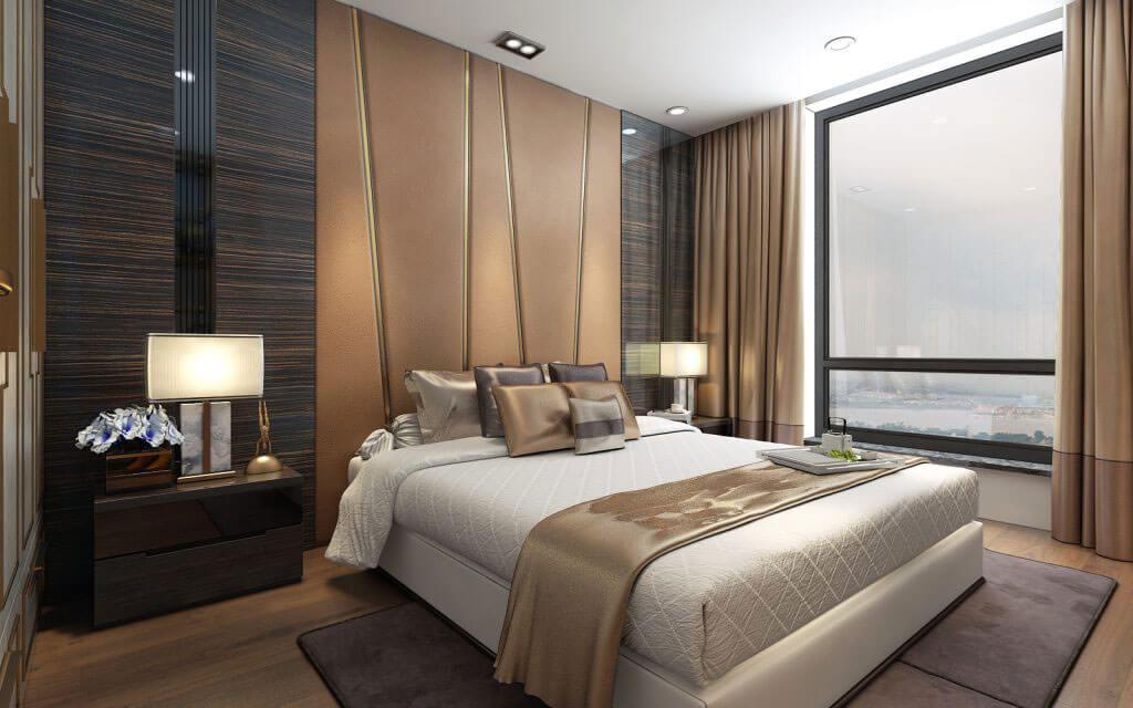 Phòng ngủ căn hộ chung cư Imperia Smart City