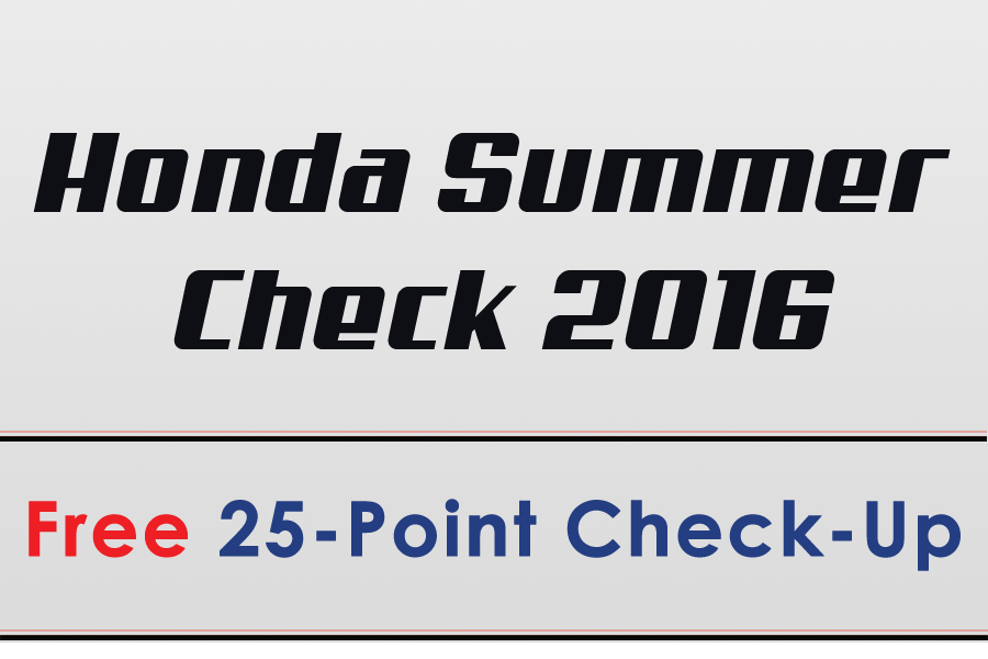 Honda Summer Check 2016
