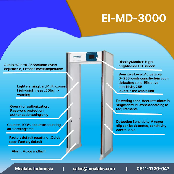 EI-MD3000 Walktrough Metal Detector