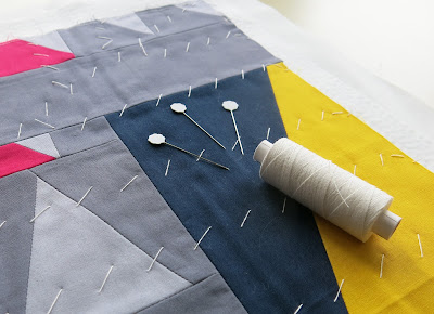 Luna Lovequilts - A tutorial on how to thread baste a quilt