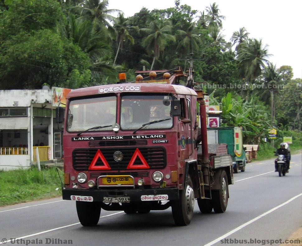 Sltb Gampaha Regional Ashok Leyland Comet Tow Truck