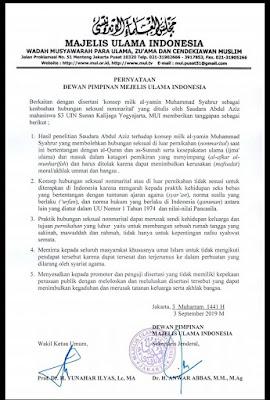 MUI: Disertasi Milk Al Yamin Menyimpang dan Harus Ditolak