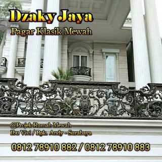Model pagar klasik / pagar besi tempa mewah Surabaya