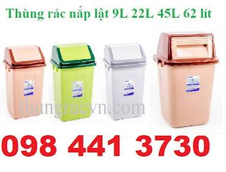 thùng rác nấp lật giá rẻ