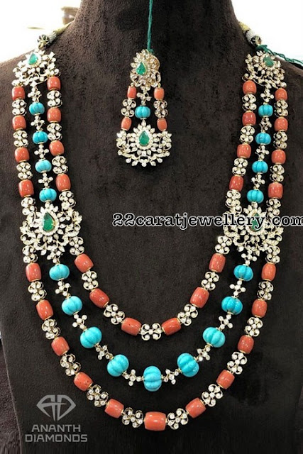 Three Layer Coral Beads Set