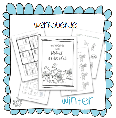 Fabulous Kleuterjuf in een kleuterklas: Werkboekje | Thema WINTER @WH13