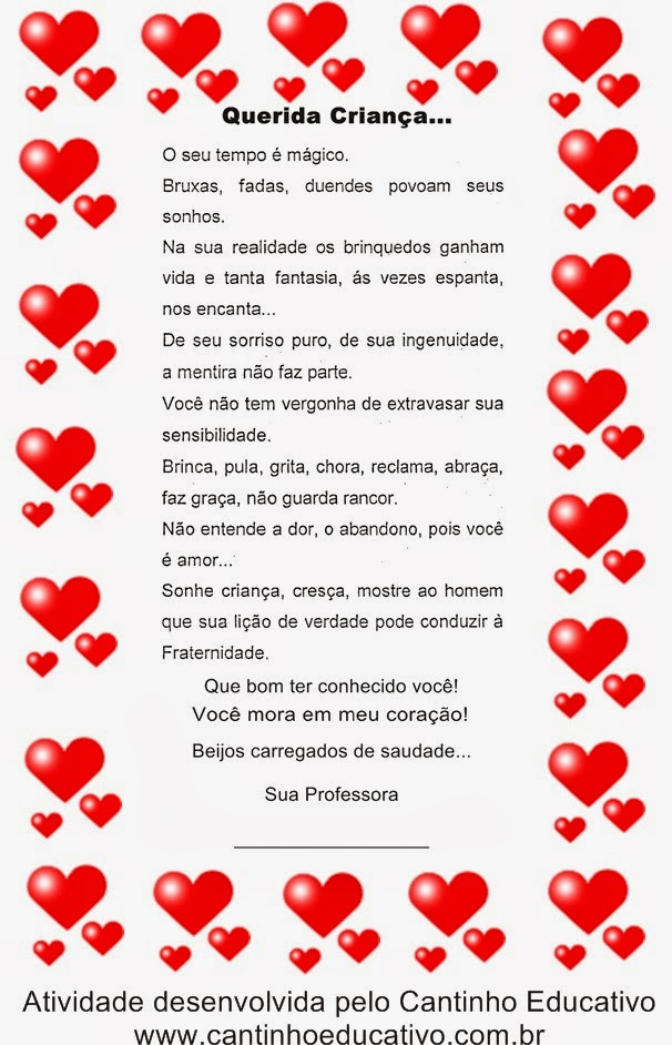 Mensagens Para O Final Do Ano Letivo Cantinho Educativo