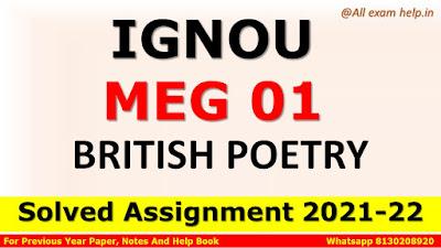 MEG 01 Solved Assignment 2021-22, IGNOU MEG 01 Solved Assignment 2021-22