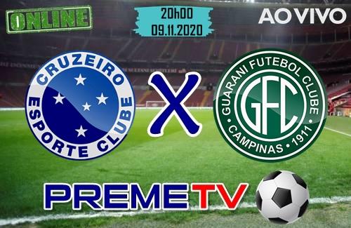 Cruzeiro x Guarani Ao Vivo