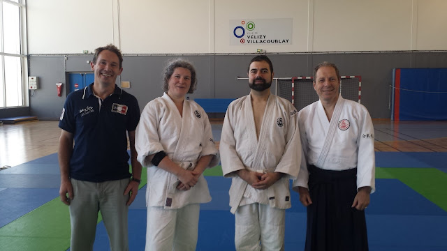 Photo de fin de passage de grade Shodan Aikibudo